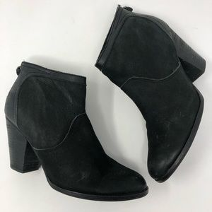 Saks Fifth Ave Black Leather Stella Booties